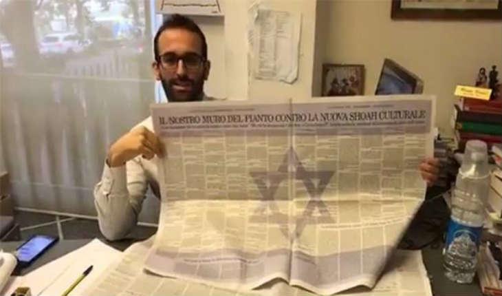 Italie: Campagne d'un journal et manifestation contre la résolution révisionniste de l'UNESCO, niant les liens du judaïsme à Jérusalem