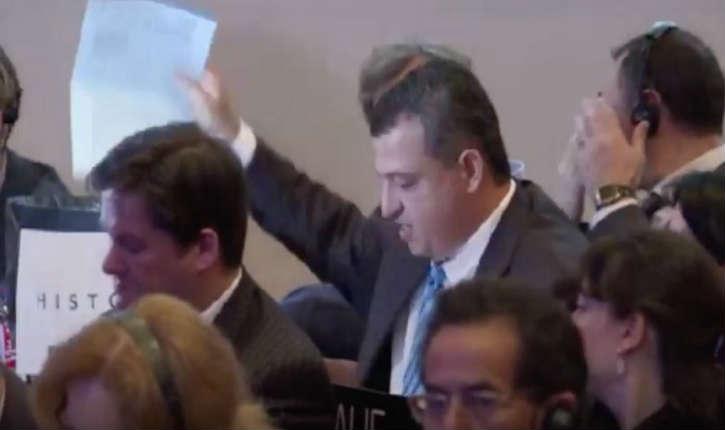 [Vidéo] : l'ambassadeur d'Israël jette à «la poubelle de l'histoire» la résolution négationiste de l'UNESCO qui islamise le mont du temple