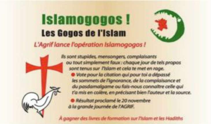 L'AGRIF lance le concours flash des Gogos de l'Islam. Votez pour la plus stupide citation publique en faveur de l'islam