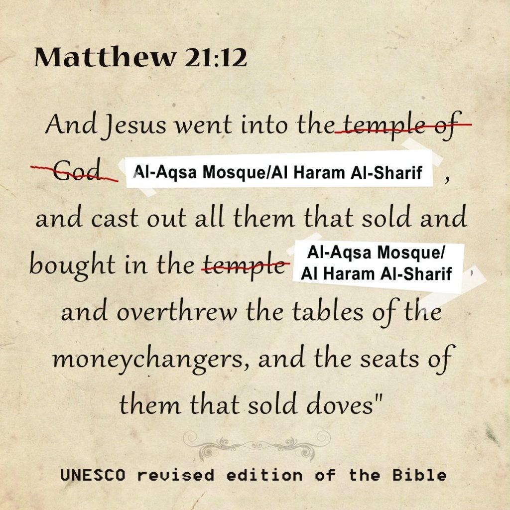 La Bible réécrite selon l'UNESCO