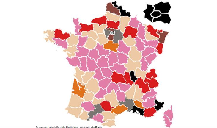 La carte de France de la radicalisation islamique basée sur des signalements