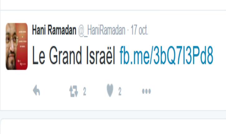 Hani Ramadan s'appuie sur la propagande d'Arte pour justifier son antisémitisme