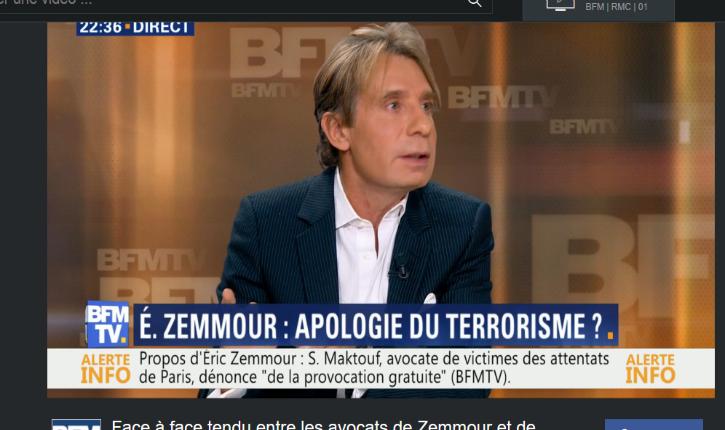 [Vidéo] Avocat d'Eric Zemmour face l'avocate de familles de victimes : « Ce que vous dites est stupide et sacandaleux »