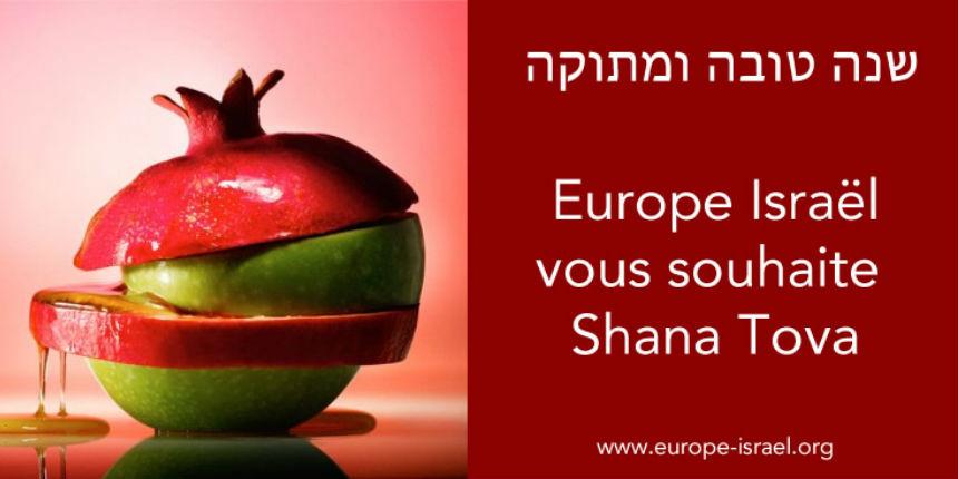 Europe Israël vous souhaite Shana Tova, Bonne année, A Git Yure 5779