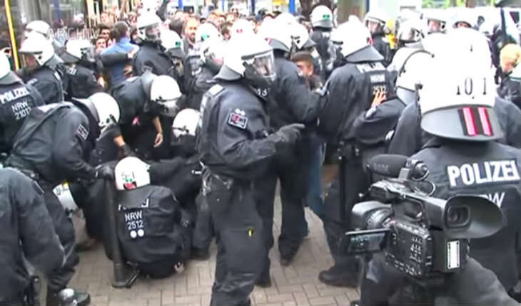 La rue Allemande en proie à l'anarchie