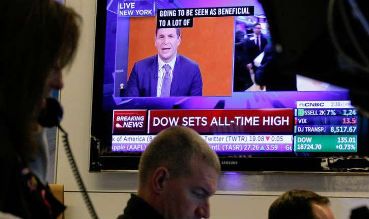 Wall Street: le Dow Jones monte à un niveau jamais vu. L'effet Trump?