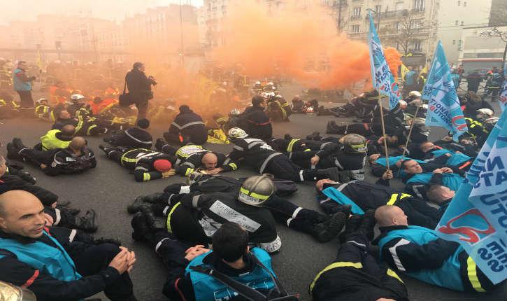 [Vidéo+Photos] Manifestation nationale des pompiers, pour dénoncer la dégradation de leurs conditions de travail: «le gouvernement n'écoute rien!»