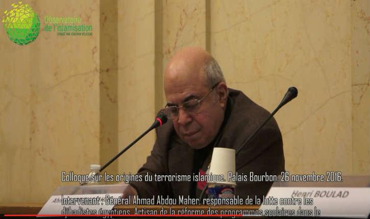 [Vidéo] « La source du terrorisme est dans l'enseignement islamique officiel » alerte un général égyptien