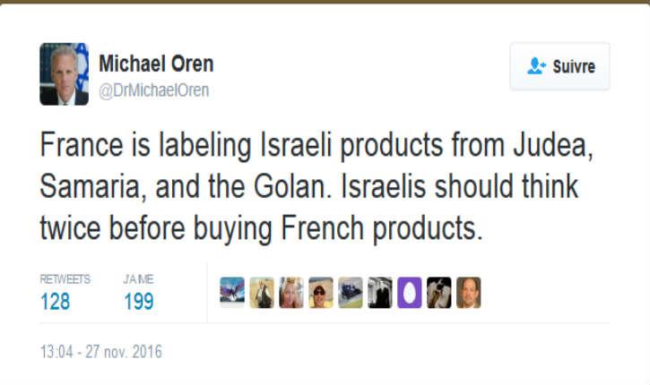 «Les Israéliens devraient réfléchir avant d'acheter des produits français »: passe d'armes entre un député israélien et l'ambassadrice de France en Israël