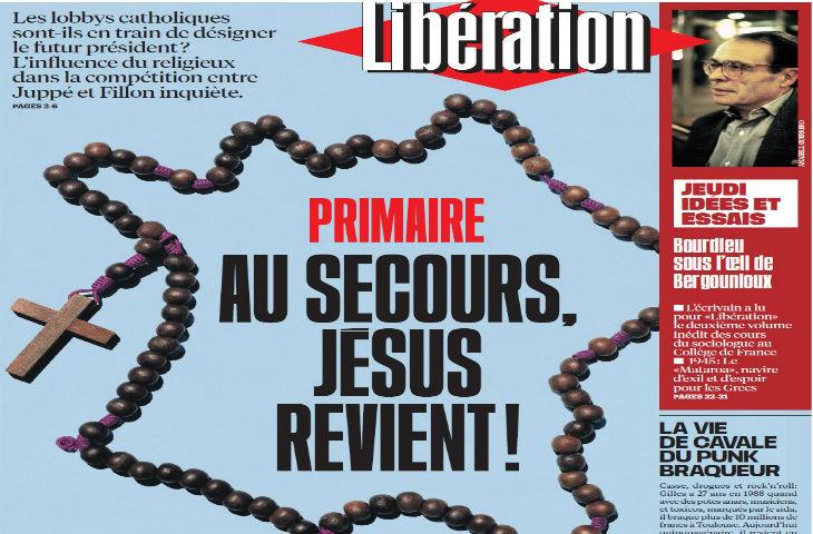 Libé dérape en présentant Fillon comme le représentant des lobbys catholiques « au secours, Jésus revient ! »
