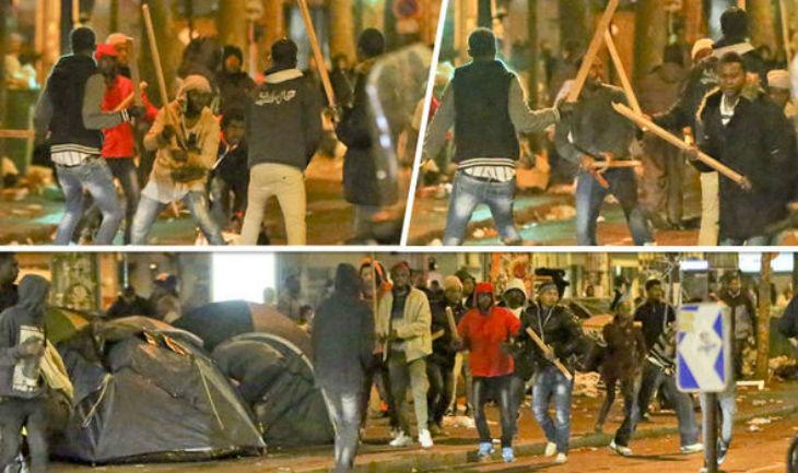 Guerre dans les rues de Paris : Les migrants armés se battent dans la capitale