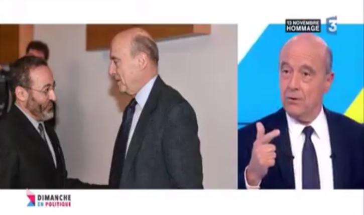 [Vidéo] Alain Juppé refuse de connaitre le passé antisémite et islamiste de Tareq Oubrou et justifie ses liens avec lui