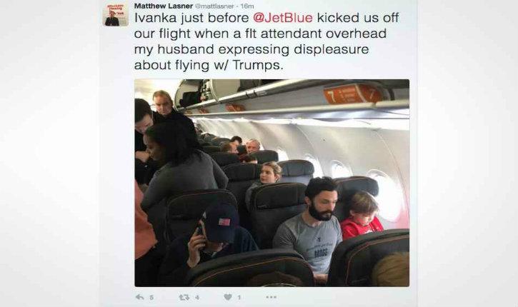Deux passagers débarqués d'un avion pour avoir interpellé trop agressivement Ivanka Trump