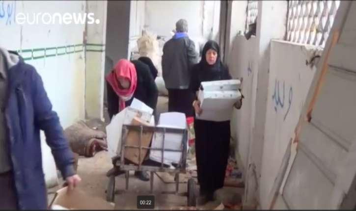 [Vidéo] Alep: les «gentils rebelles» de Jaysh al islam gardaient l'aide humanitaire, laissant les civils mourrir de faim