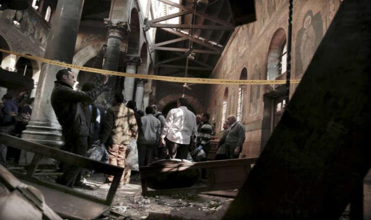 Egypte : attentat kamikaze dans l'église Saint-Pierre et Saint-Paul, l'enquête se tourne vers les Frères musulmans
