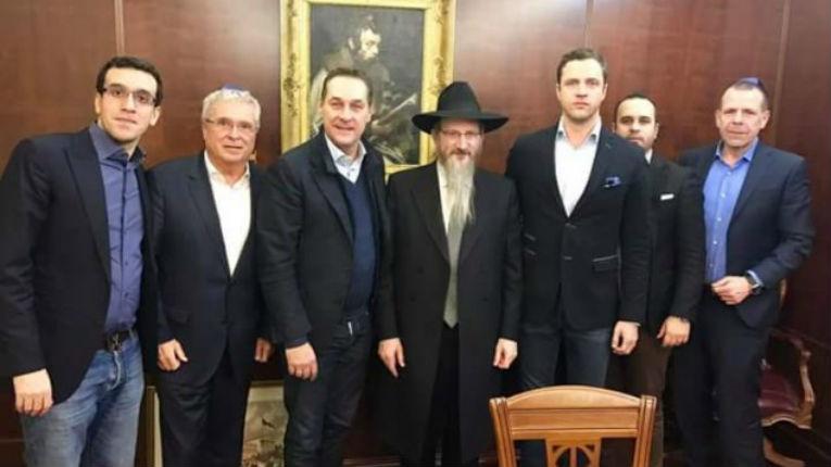 Le Grand rabbin de Russie a rencontré le chef du parti nationaliste autrichien FPÖ, Christian Strache
