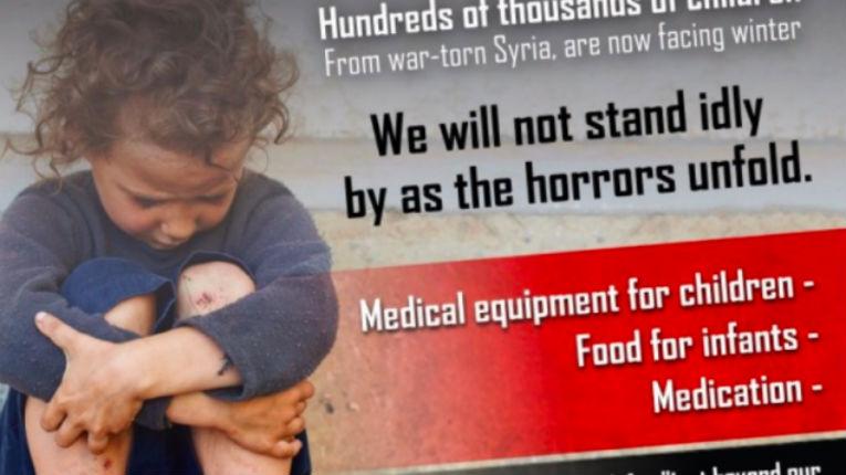 Les Israéliens collectent 100 000 $ en 2 jours pour les enfants syriens