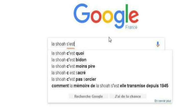 Site négationniste en tête des recherches sur la Shoah: Google revoit son algorithme