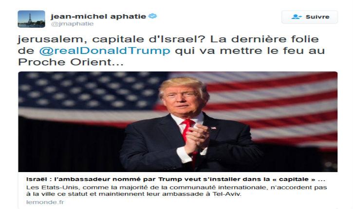 Pour Jean-Michel Apathie, faire de Jerusalem la capitale d'Israël est une «folie»