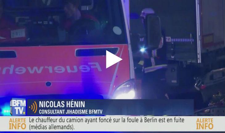 [Vidéo] Attentat islamiste à Berlin : «L'expert» de BFM, Nicolas Hénin, osedénoncer l'extrême-droite et faire l'apologie des migrants