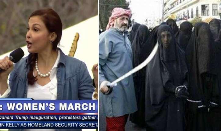 Les Yézidis sont vendues comme esclaves sexuelles, mais les Femmes défilent contre Trump