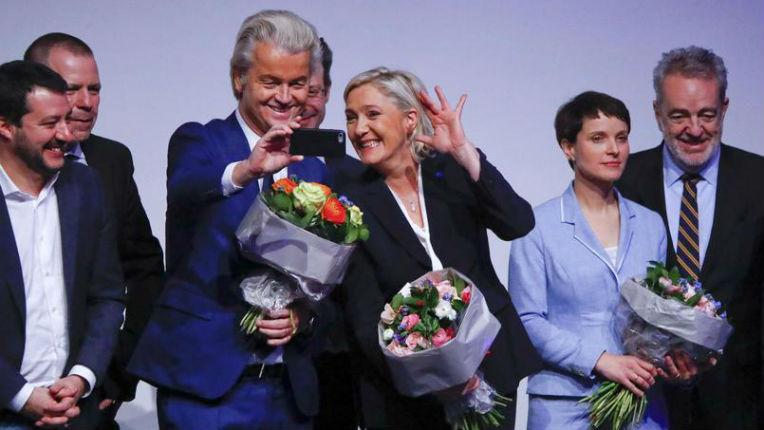 [Vidéo] À Coblence, Marine Le Pen et ses alliés européens disent «Goodbye Angela!»