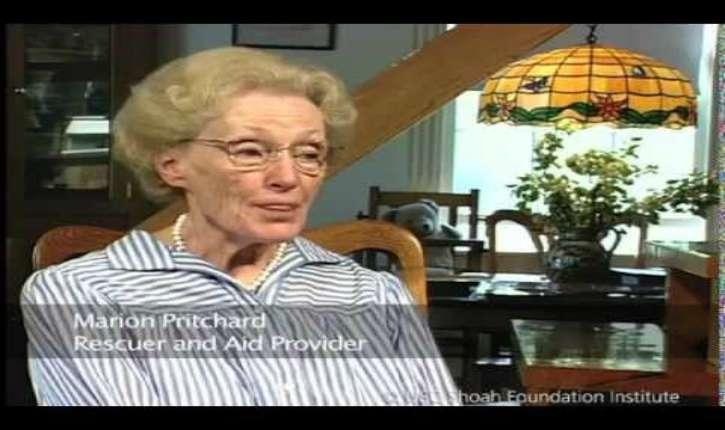 Marion Pritchard, une Juste parmi les Nations, vient de quitter ce monde à l'âge de 96 ans