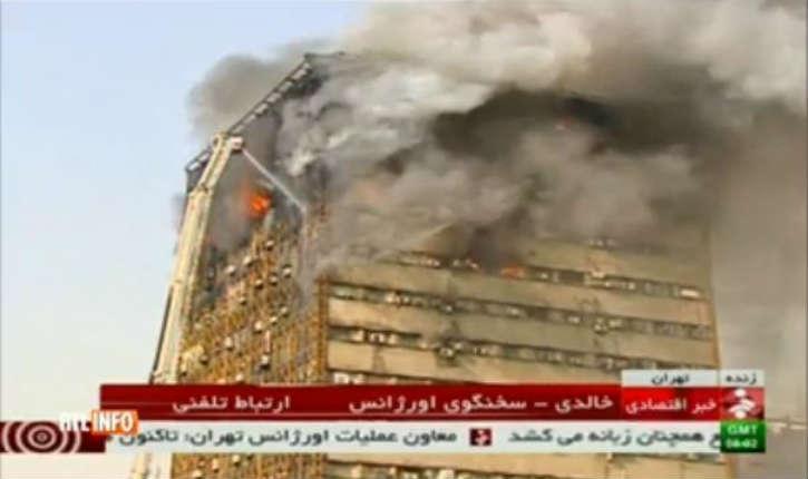 [Vidéo] Téhéran : plus de 20 pompiers ont péri dans l'effondrement d'un centre commercial de 15 étages