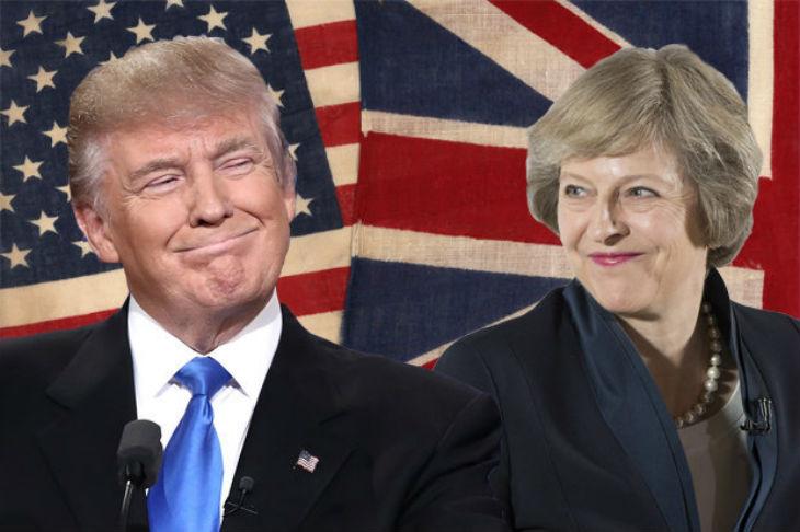 «Nous allons mener le monde à nouveau ensemble» a déclaré Theresa May à Trump