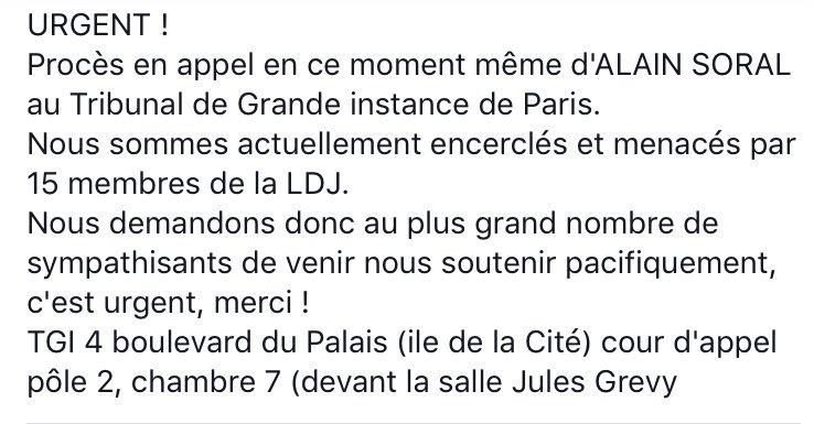 Le tweet paniqué du brave Alain Soral !