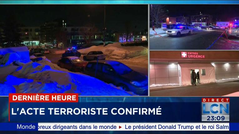 Attaque terroriste : au moins six morts dans un centre islamique à Québec