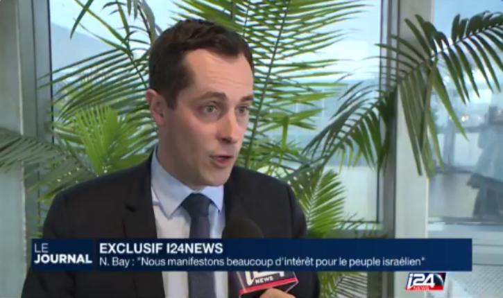 [Vidéo] Nicolas Bay, Front National :  « Nous manifestons beaucoup d'intérêt pour le peuple israélien »
