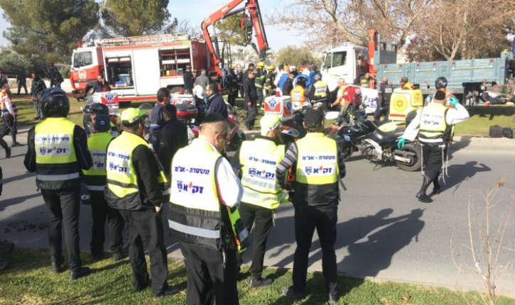 Jérusalem : attaque au camion-bélier dans le quartier d'Armon Hanatsiv, le terroriste a été abattu, au moins 3 morts et des blessés