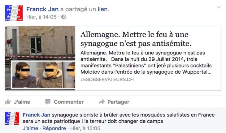 Franck Jan, portrait d'un antisémite «bien d'chez nous»…