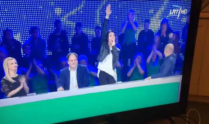 [vidéo] Lors d'un un jeu télévisé une ancienne députée lituanienne se met à hurler «Juif ! Juif ! Juif !» accompagné d'un un salut nazi