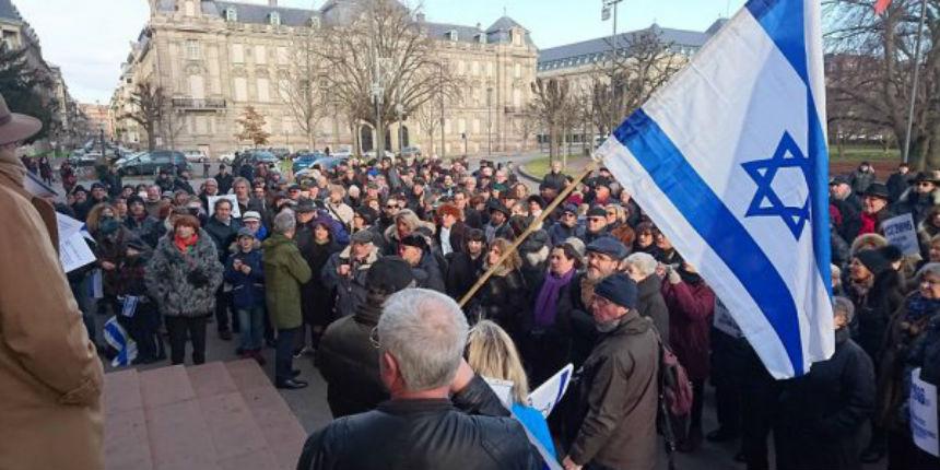 Strasbourg : Plusieurs centaines de personnes se rassemblent en soutien à Israël
