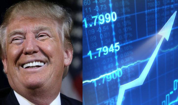 Explosion à la bourse, le Dow Jones s'envole avec l'arrivée de Trump alors que les experts prévoyaient l'effondrement