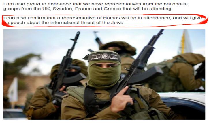 USA : Des suprémacistes blancs invitent un membre du Hamas à une manifestation contre « la menace juive »