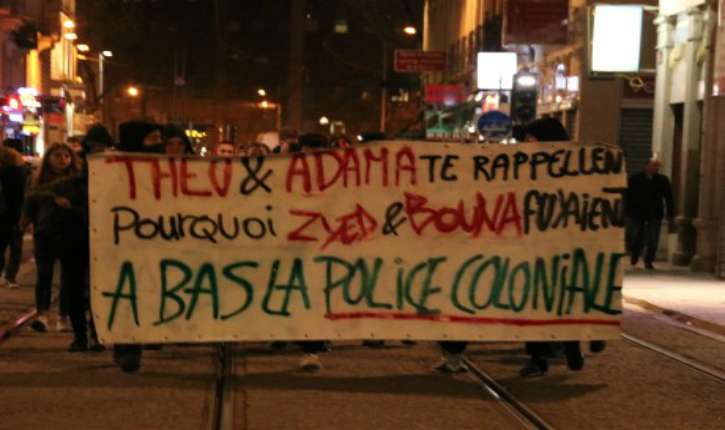 """Lyon : rassemblement contre """"la police coloniale"""", non pas israélienne….mais bien française!"""