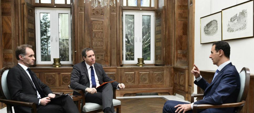 """Bachar al-Assad méprise et tacle François Hollande qui """"touche le fond"""""""