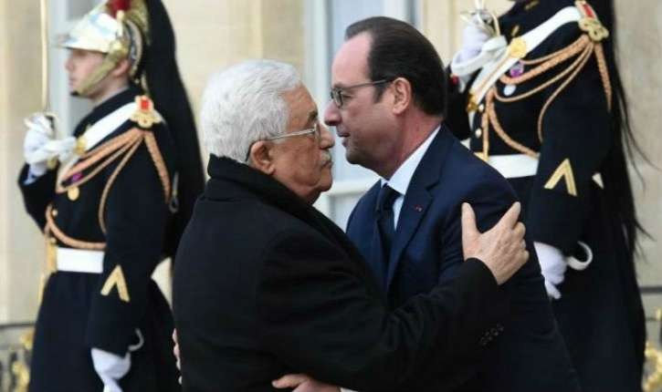 [Vidéo] Le président sortant François Hollande, reçoit le président «à vie» Mahmoud Abbas à l'Elysée