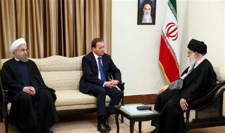 Iran. Suède : chaleureuse rencontre entre Hassan Rohani, l'ayatollah Ali Khamenei et Stefan Lofven