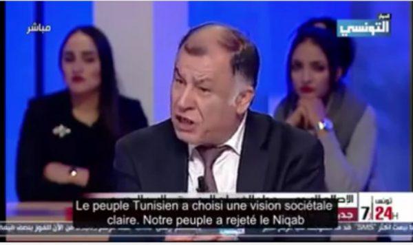 [Vidéo] : Le Ministre de l'éducationTunisien : le port du niqab est une honte pour notre nation