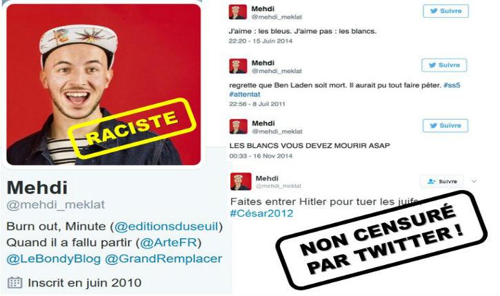 Quand Mehdi Meklat, le protégé des islamo-gauchistes parisiens, traitait Eric Zemmour de pute et voulait le lapider