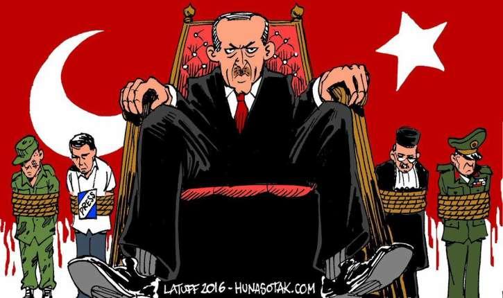 Purge massive : La Turquie islamiste de Erdogan classée en tête des dictatures, sur 195 pays