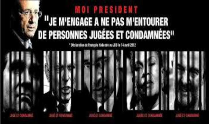 Liste des 51 condamnés toujours en poste au Gouvernement ou au Parti Socialiste