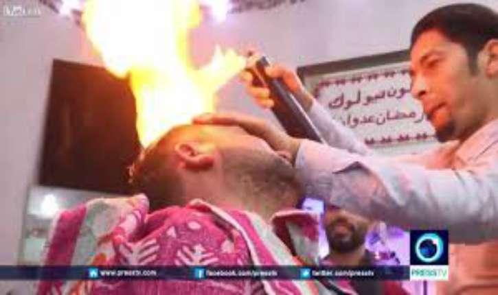 [Vidéo] Ramadan Edwan, palestinien. Des flammes sortant d'une bombe. Quand la folie guide le bras d'un «coiffeur»…