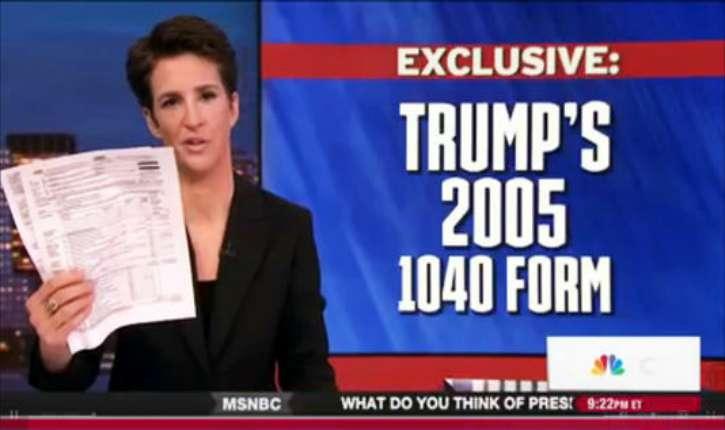 Scoop avorté des médias américains : La Maison-Blanche dévoile les impôts de Trump avant la MSNBC