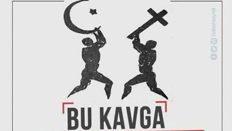 Belgique : Une affiche anti-chrétienne diffusée par le parti du dictateur islamiste Erdogan