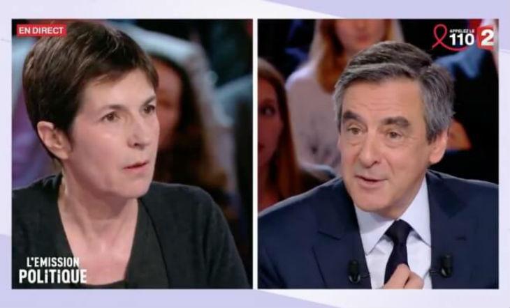 """[Vidéo]Scandale sur le plateau de """"L'Emission politique"""" : la harpie gauchiste Christine Angot attaque violemment Fillon. La foule la hue"""
